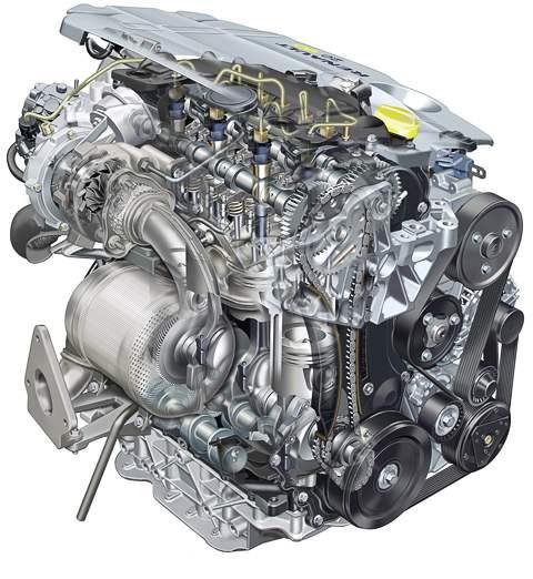 Внешний вид турбодизеля 2.0 dCi мощностью 150 л.с. и его внешняя скоростная характеристика