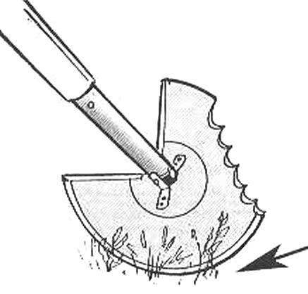 Рис. 2. Инструмент в положении «тяпка»