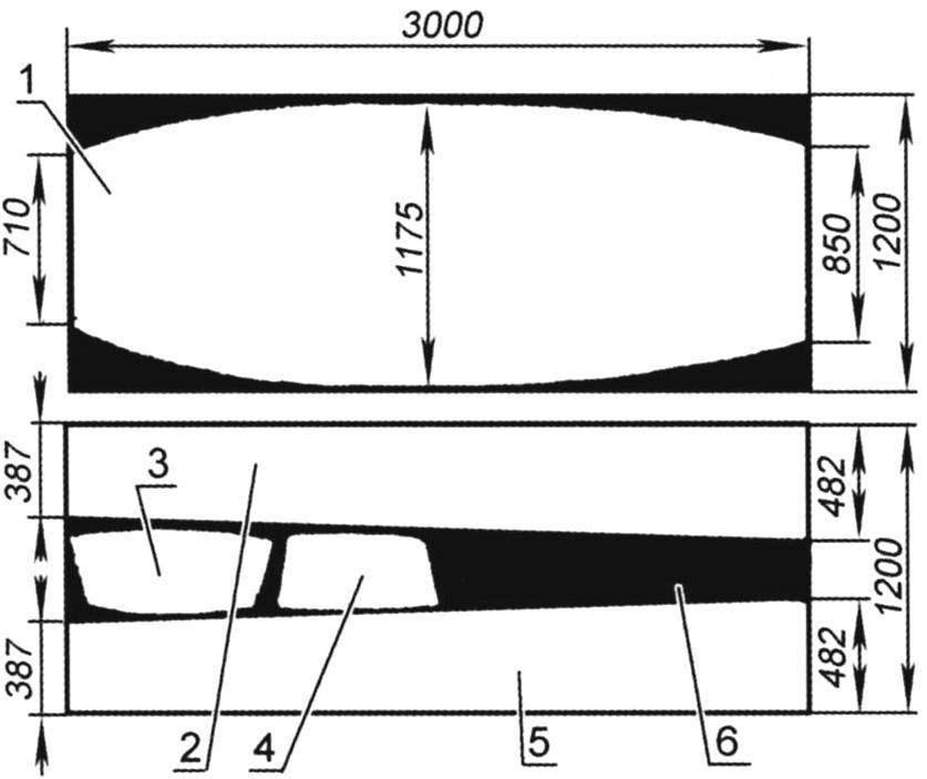 Схема раскроя листов обшивки