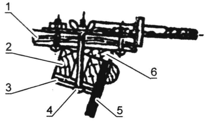 Установка поперечины на корпус