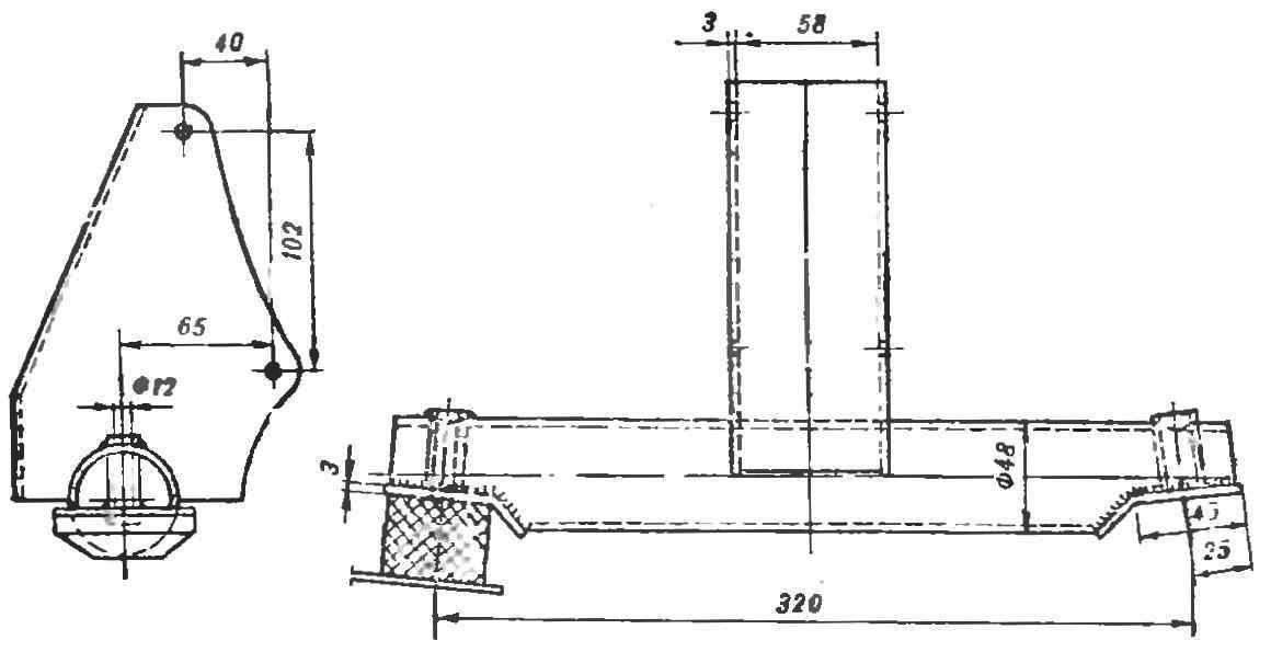 Рис. 10. Конструкция передней опоры двигателя.