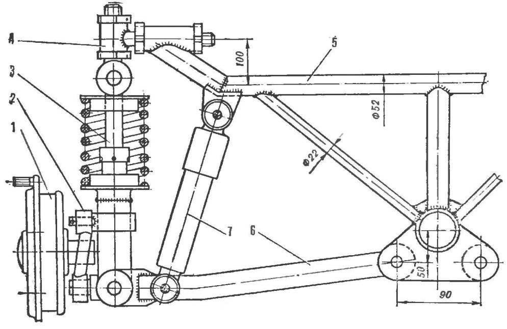 Рис. 5. Конструкция переднего моста