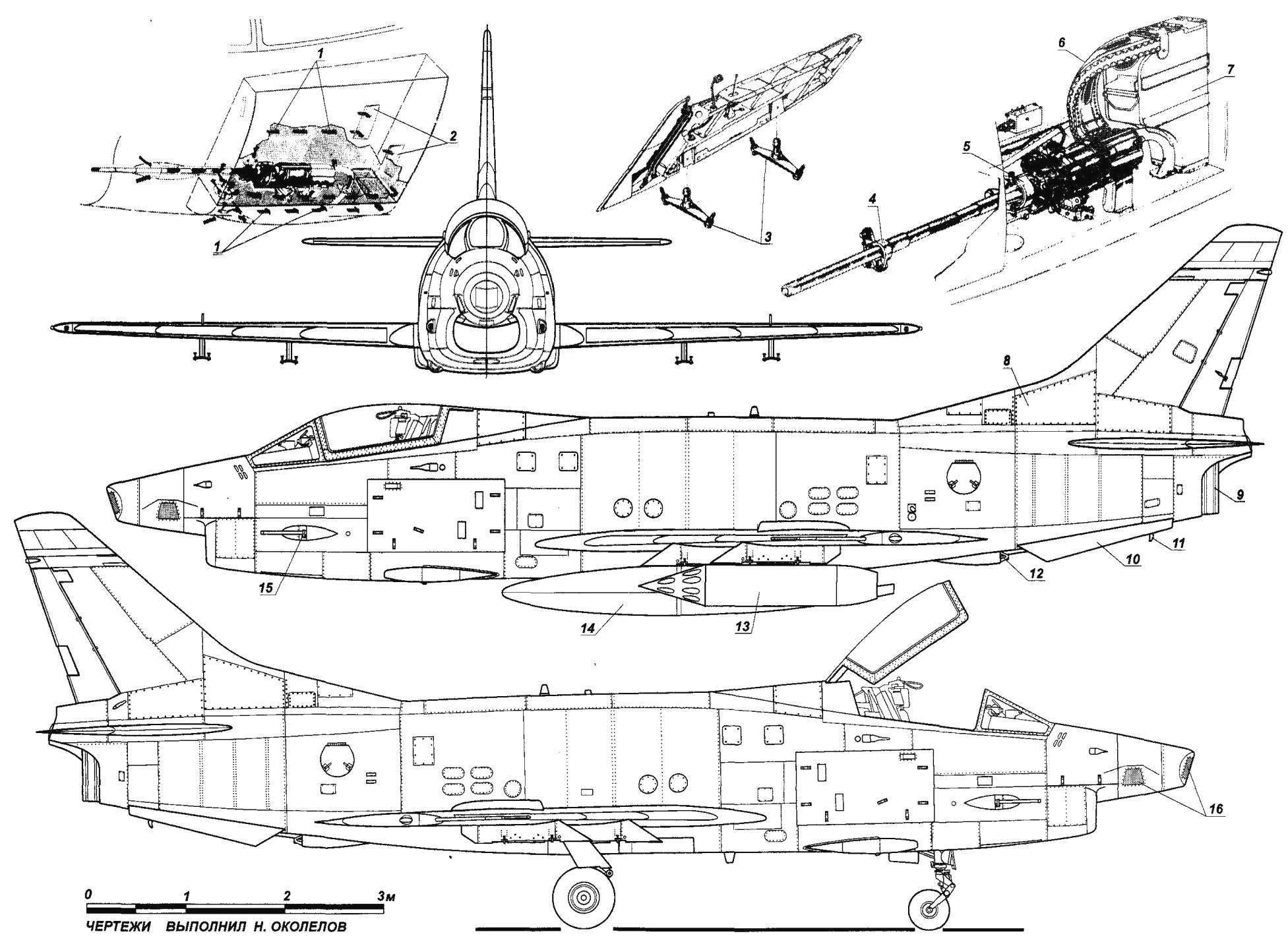 Истребитель-бомбардировщик в варианте разведчика FIAT G.91R