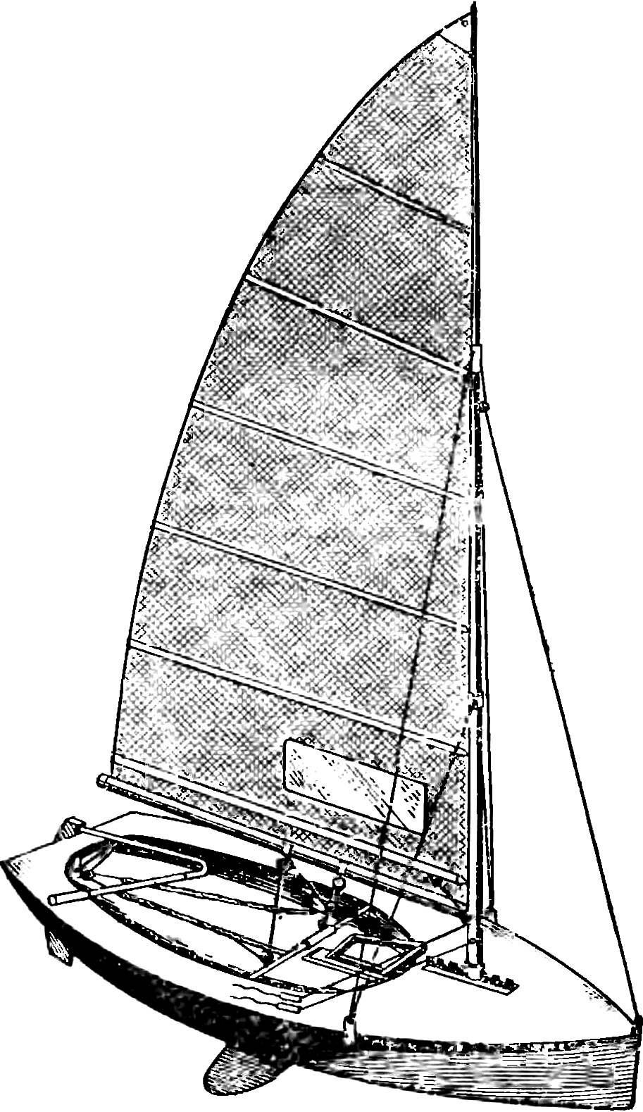 Рис. 1. Спортивный швертбот международного класса «Moth» («Мотылек»).