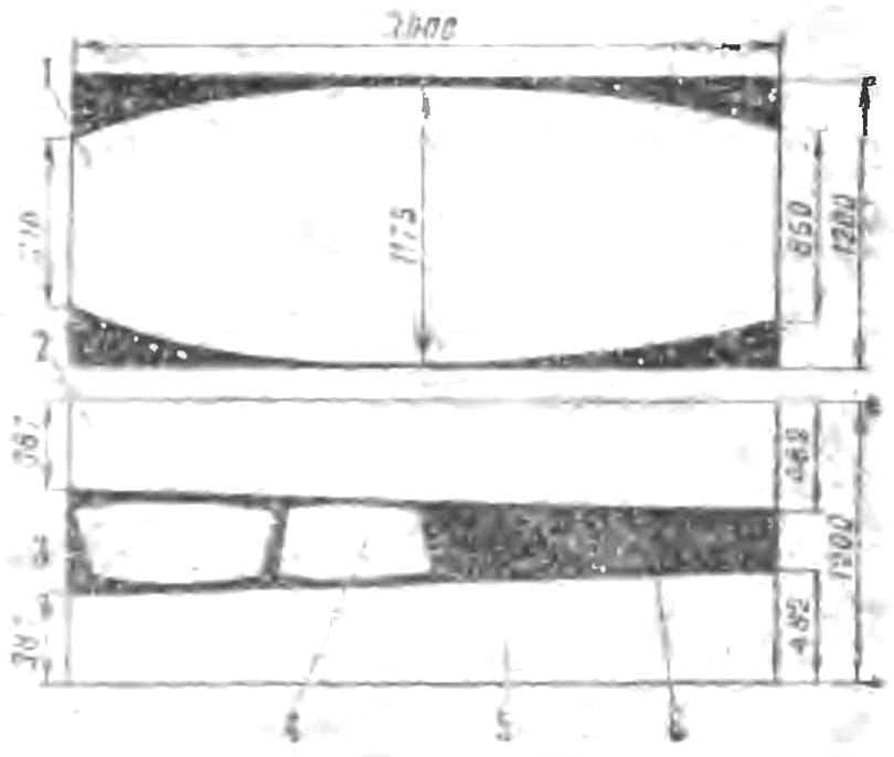 Рис. 3. Схема раскроя листов обшивки