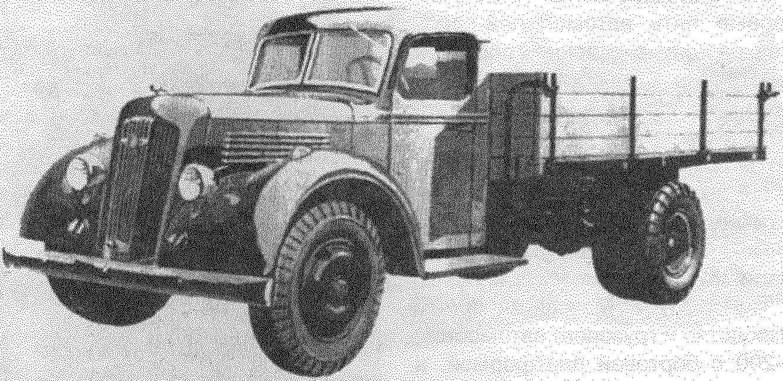 Опытный образец пятитонного грузовика ЯГ-7, разработанного на Ярославском автозаводе в 1939 году/