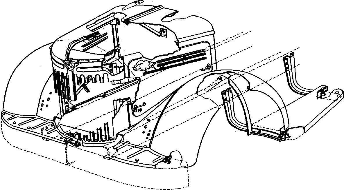 Передняя часть автомобиля МАЗ-200