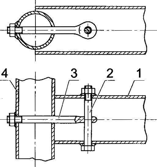 Соединение промежуточных балок со стрингерами
