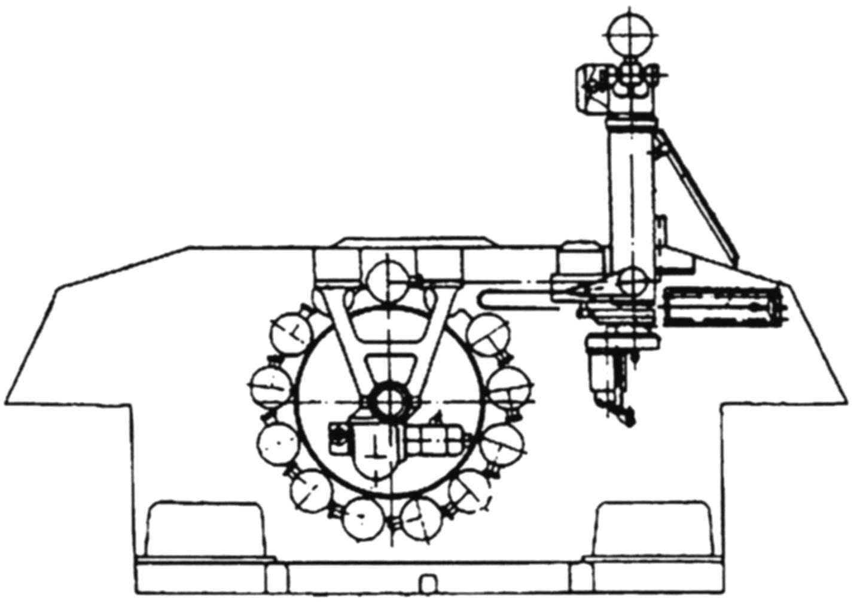 Расположение ракет в корпусе БМ 9П149