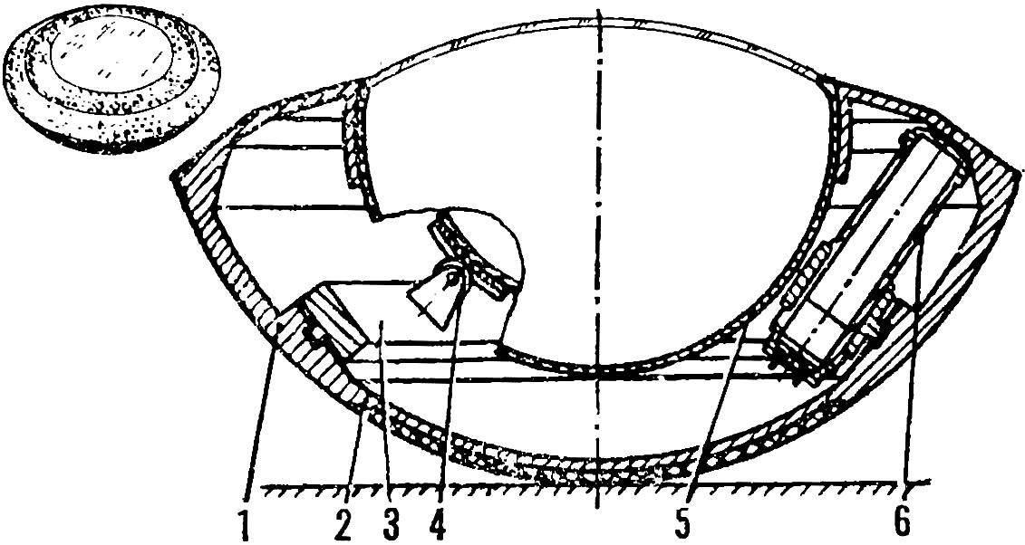 Рис. 2. Католет — «юла» (внешний вид и схема)