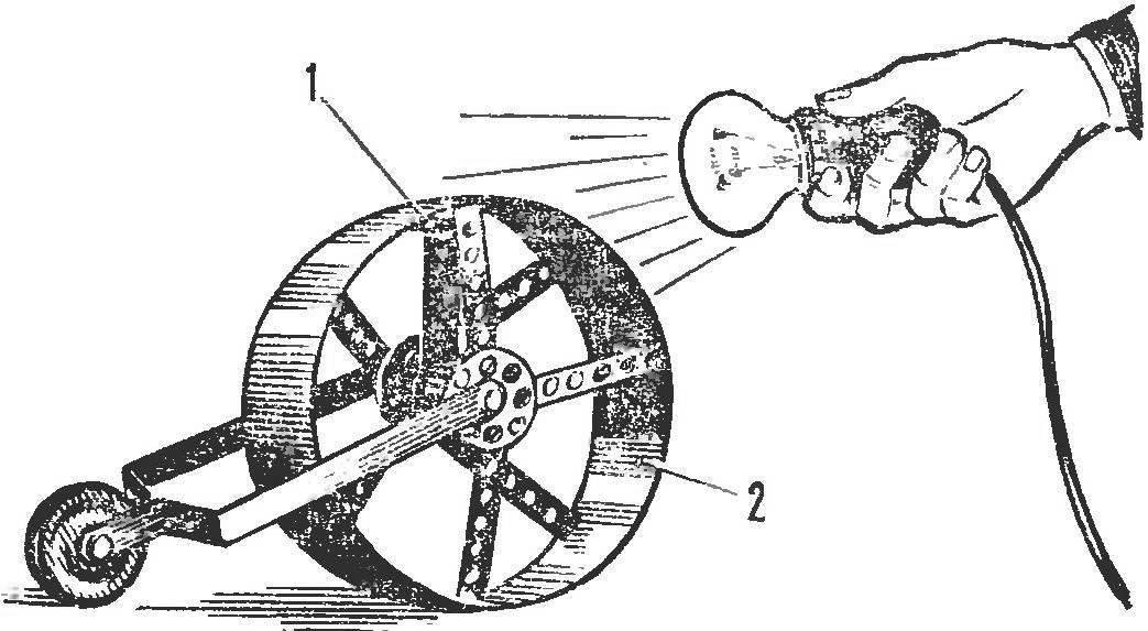 Рис. 7. «Солнечный» двигатель