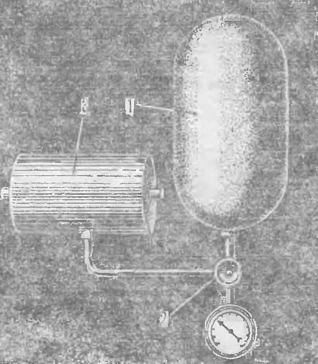 Рис. 8. Схема пневмопривода