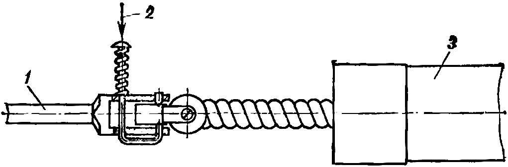 Рис. 2. Накручивание резиномотора со снятым воздушным винтом