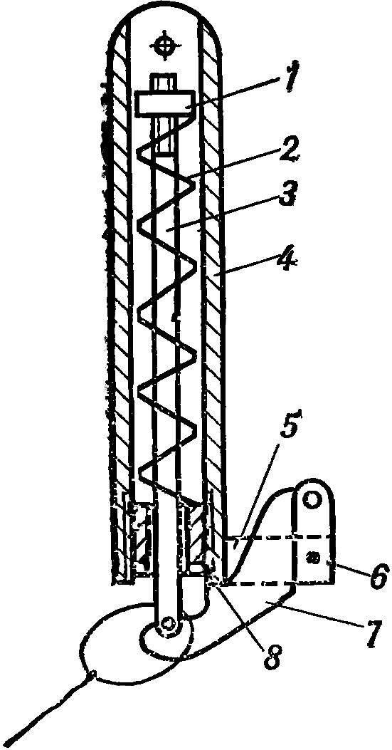 Рис. 1. Схема автоматического буксировочного приспособления (объемный вариант)