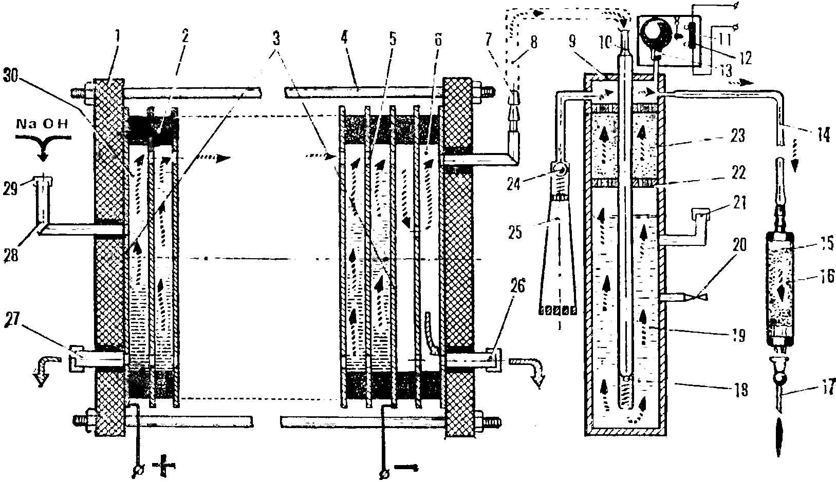 Рис. 2. Схема электролизера