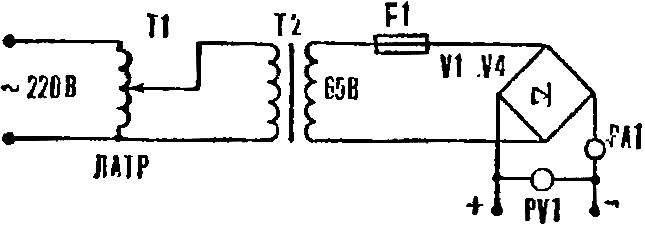 Рис. 3. Электрическая схема выпрямителя электролизера.