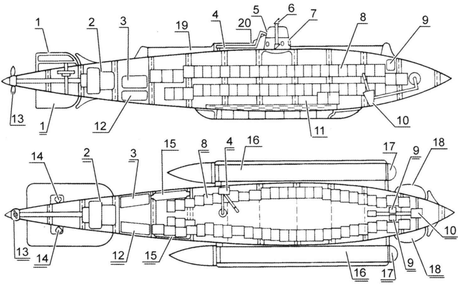 Подводная лодка «Форель», Россия, 1904 г.