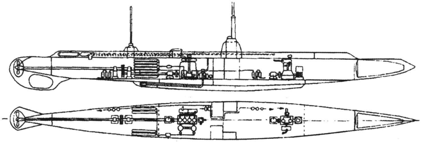 Подводная лодка «Почтовый», Россия, 1908 г.