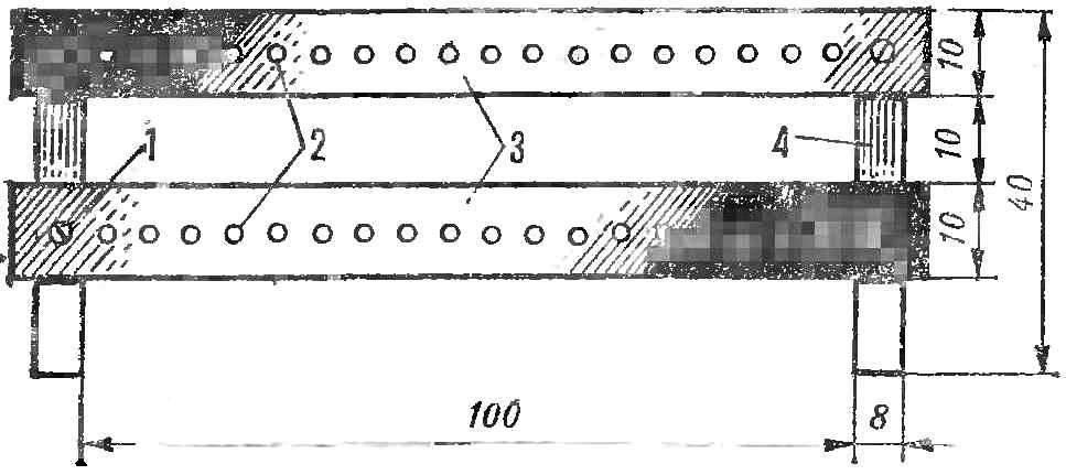 Рис. 4. Монтажная плата для крепления резисторов