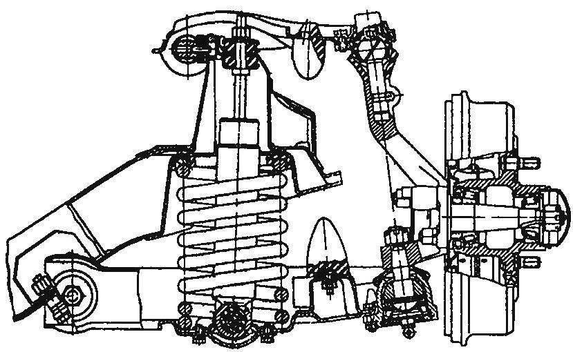Независимая пружинная передняя подвеска автомобиля