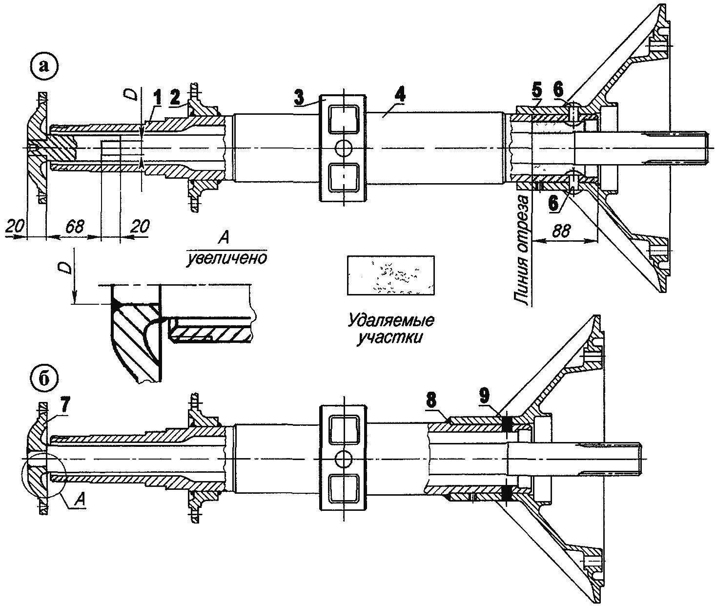 Переделка (укорочение) полуосей и «чулков» заднего моста грузовика ГАЗ-51 для сужения колеи задних колес «тракторомобиля»