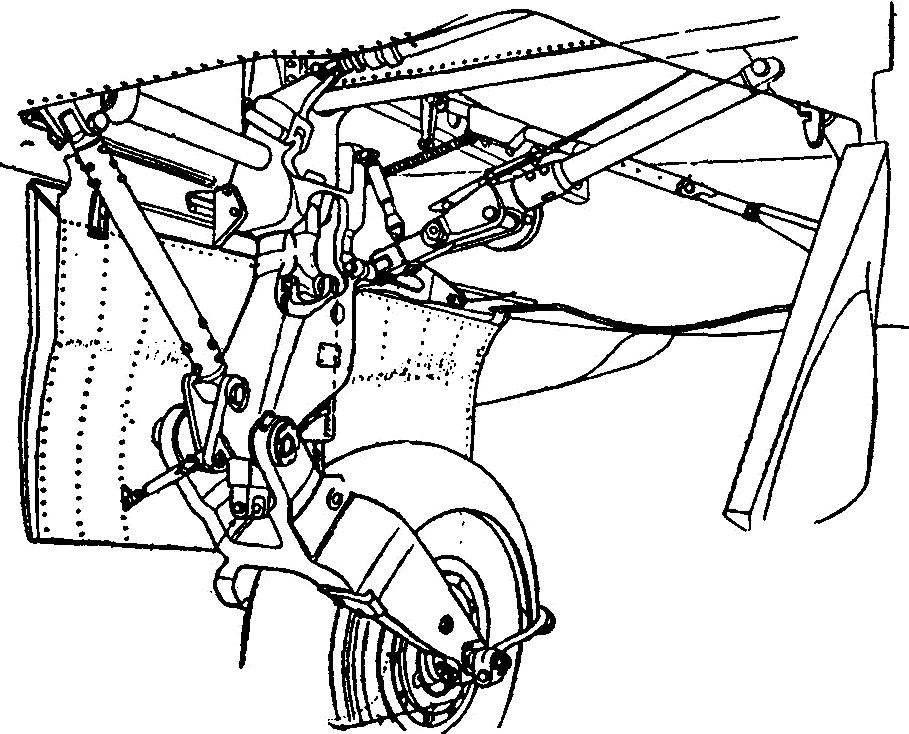 Основная опора шасси самолёта «Метеор»