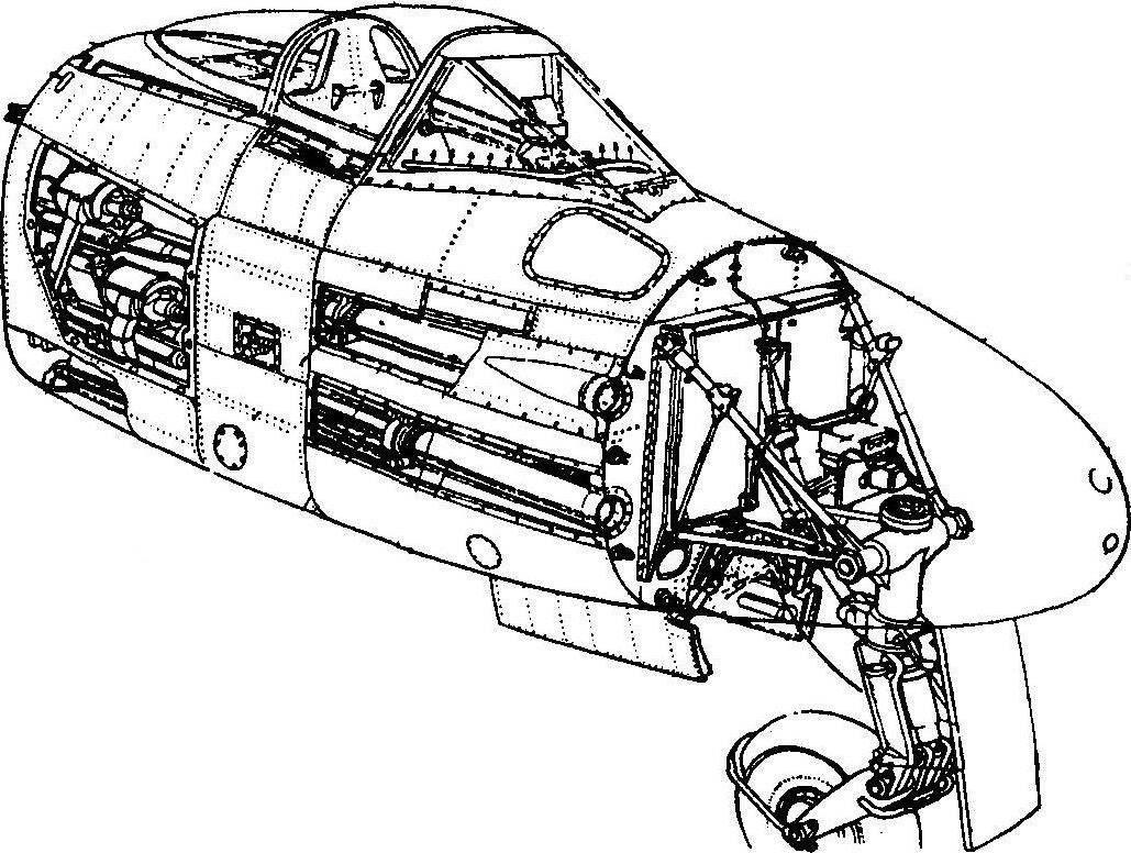 Носовая часть самолёта «Метеор» F.IV