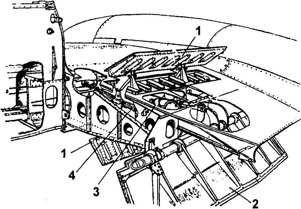 Посадочные и тормозные щитки самолёта «Метеор» F.IV