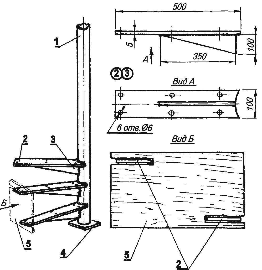 Монтаж стальной лестницы