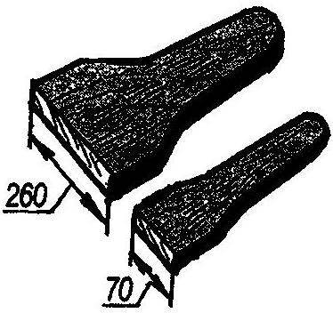 Рис. 2. Движки из деревянной доски