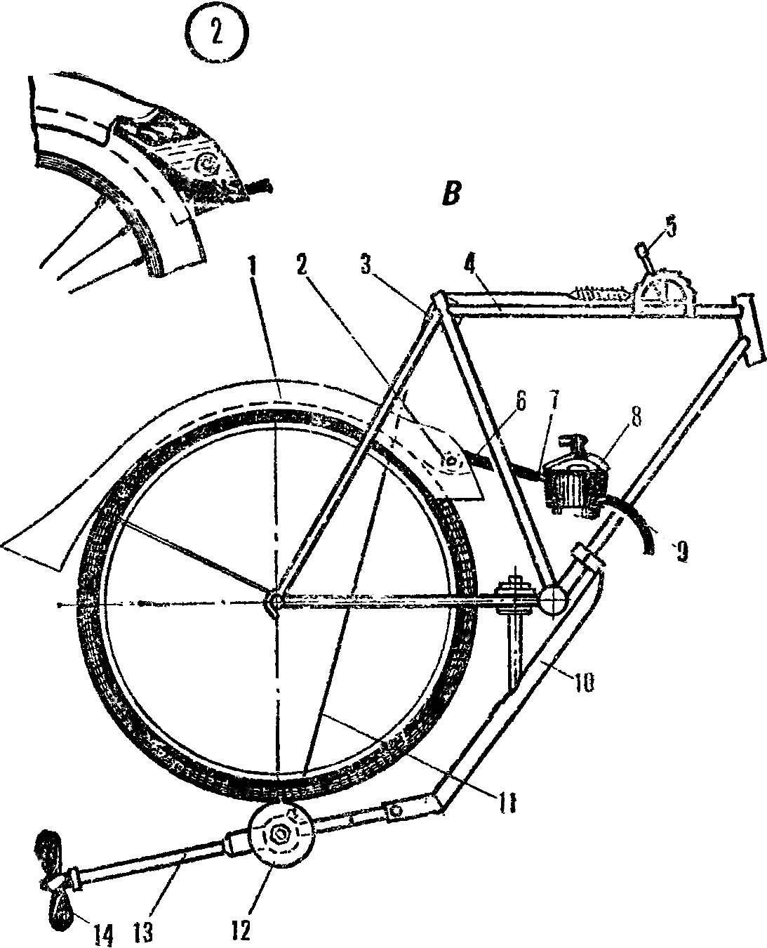 Рис. 3. Установка привода с мотором
