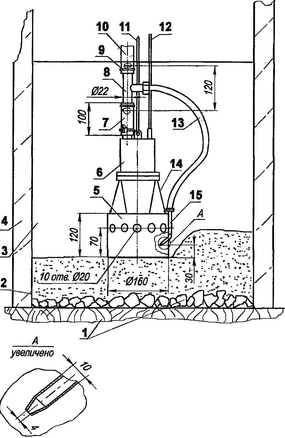 Грязеочистительная машинка для удаления ила со дна колодца