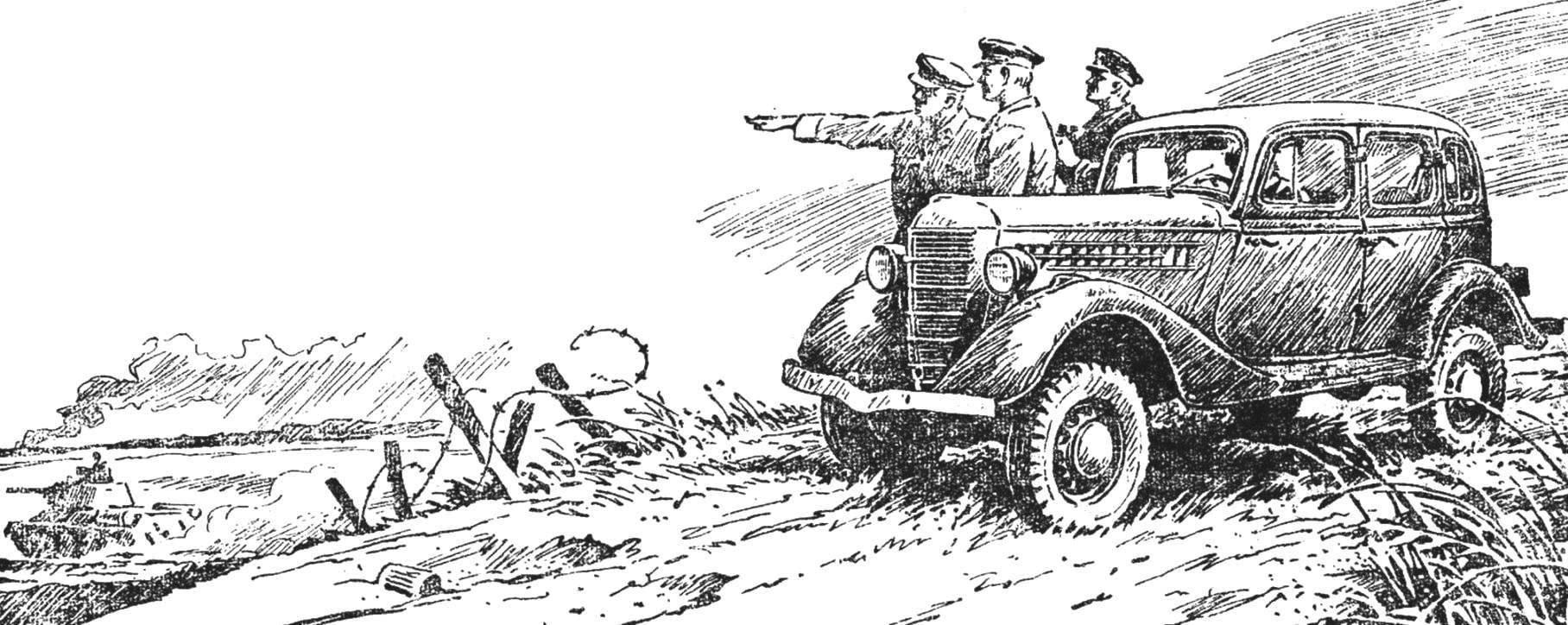 По разбитым гусеницами танков дорогам, по изрытой снарядами пашне, по улицам разрушенных городов она прошла до Берлина — историческая «эмка»-вездеход ГАЗ-61-73 — один из лучших автомобилей Великой Отечественной войны.