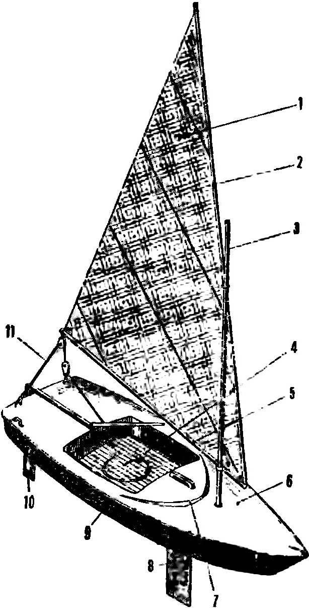 Рис. 3. Прогулочный швертбот с латинским вооружением
