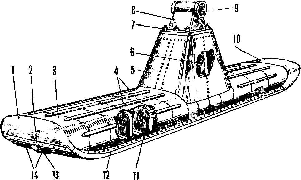 Рис. 6. Лыжа аэросаней «Север-2»