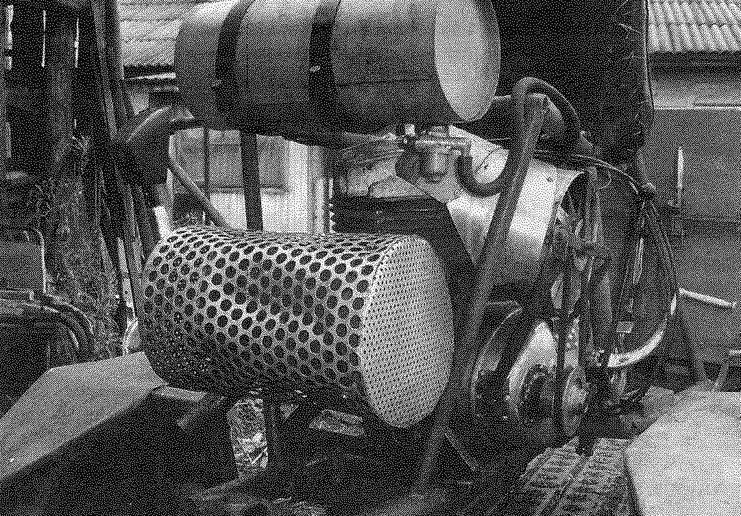 Система принудительного воздушного охлаждения цилиндра (кожух снят).