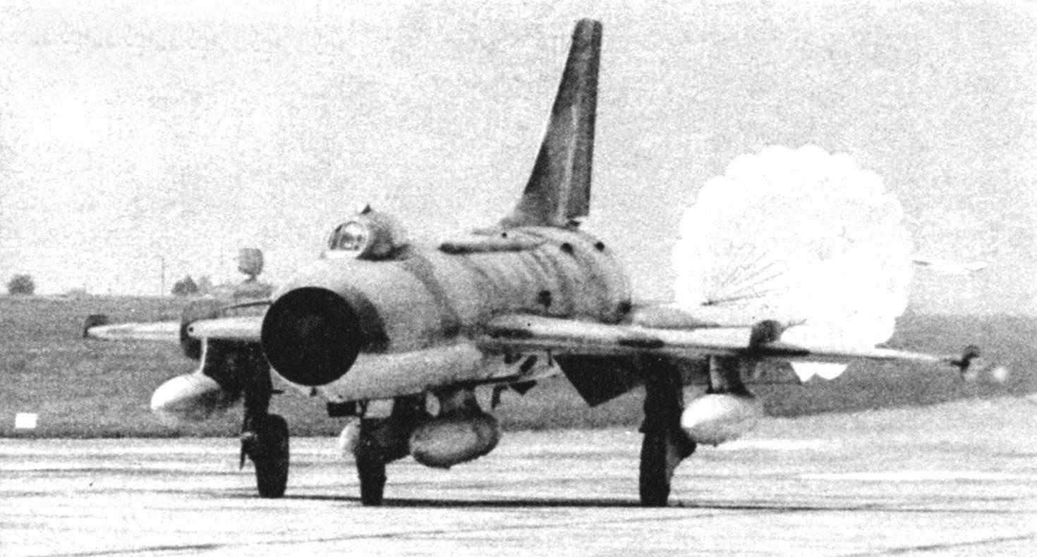 Су-7БМК на посадке