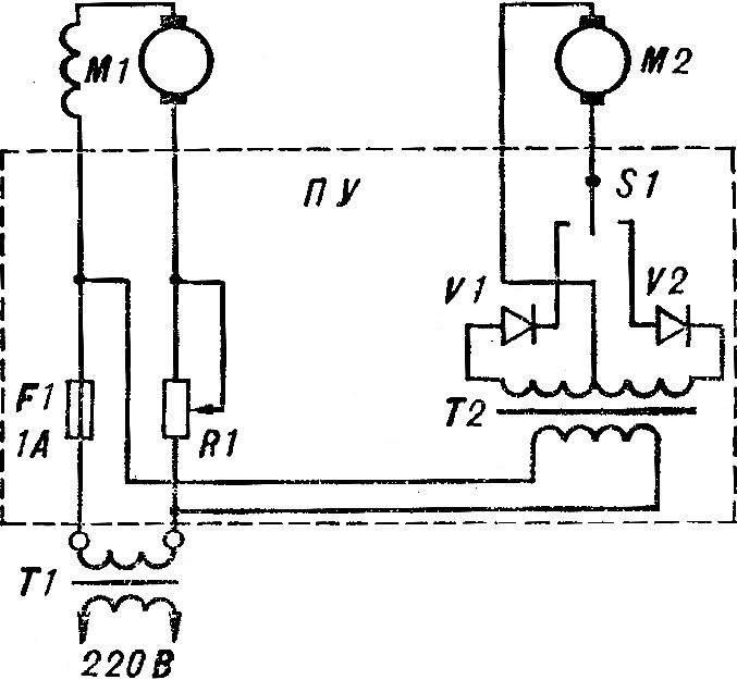 Рис. 4. Принципиальная электрическая схема модели: