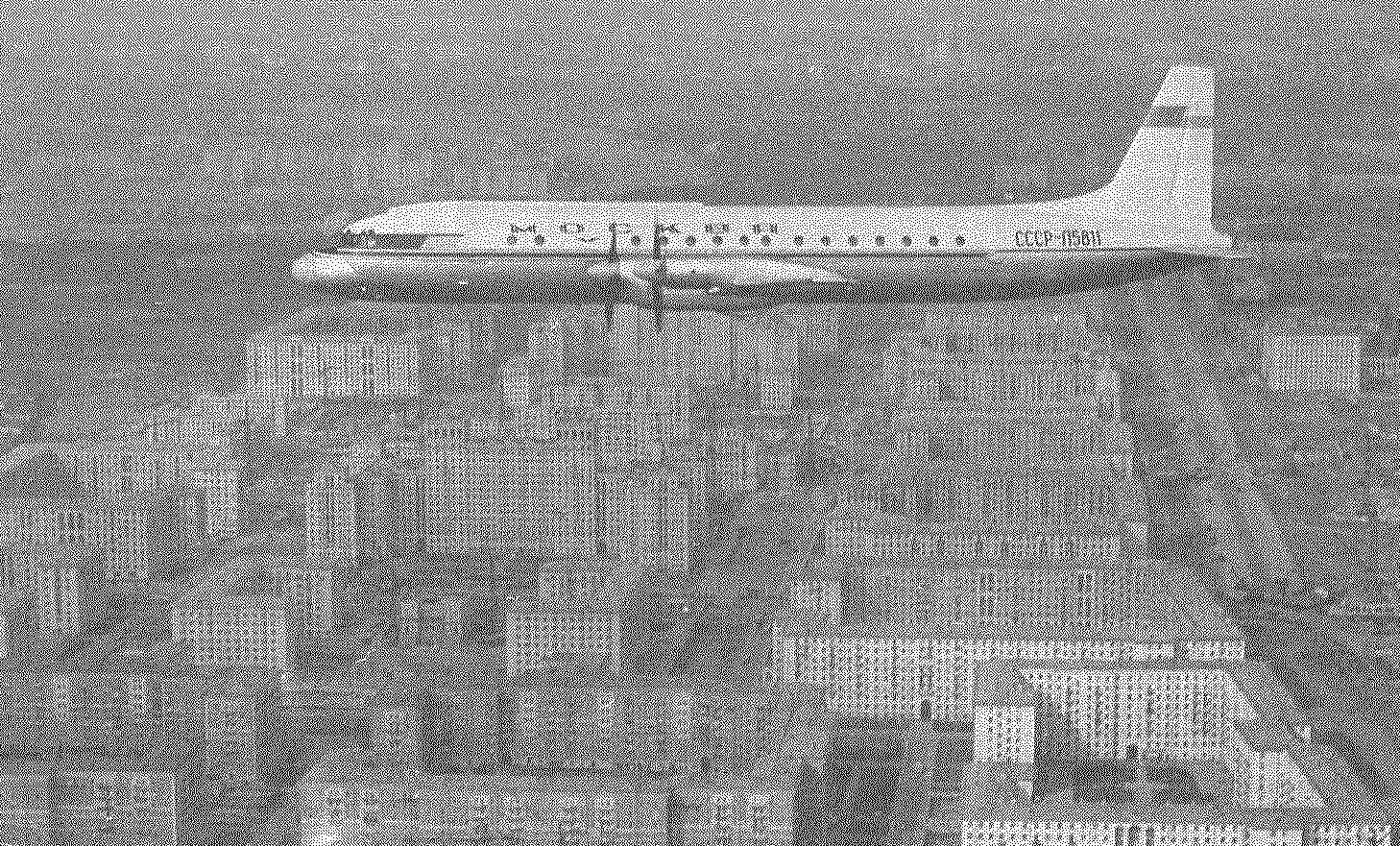 Ил-18 «Москва» над новостройками столицы