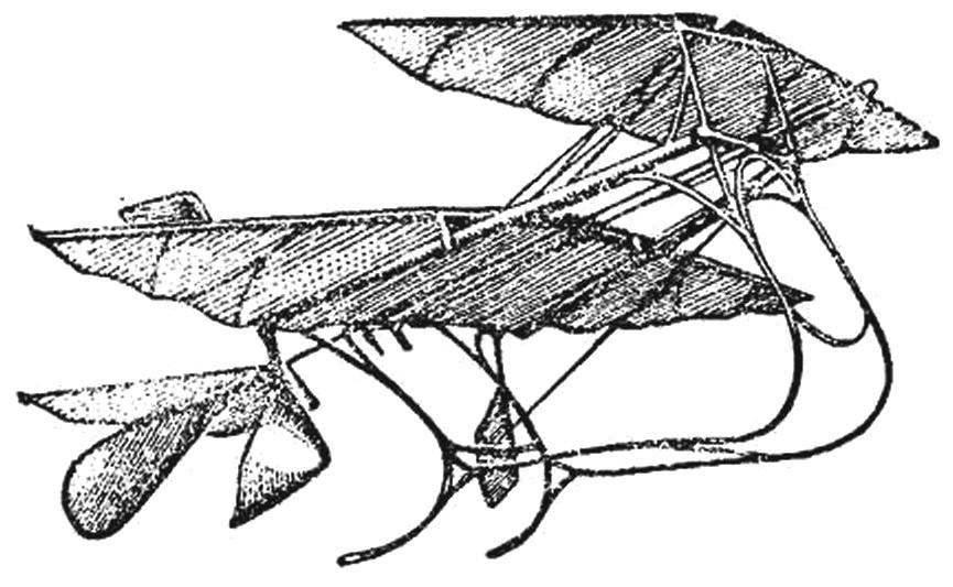 Летающая модель В. Кресса.