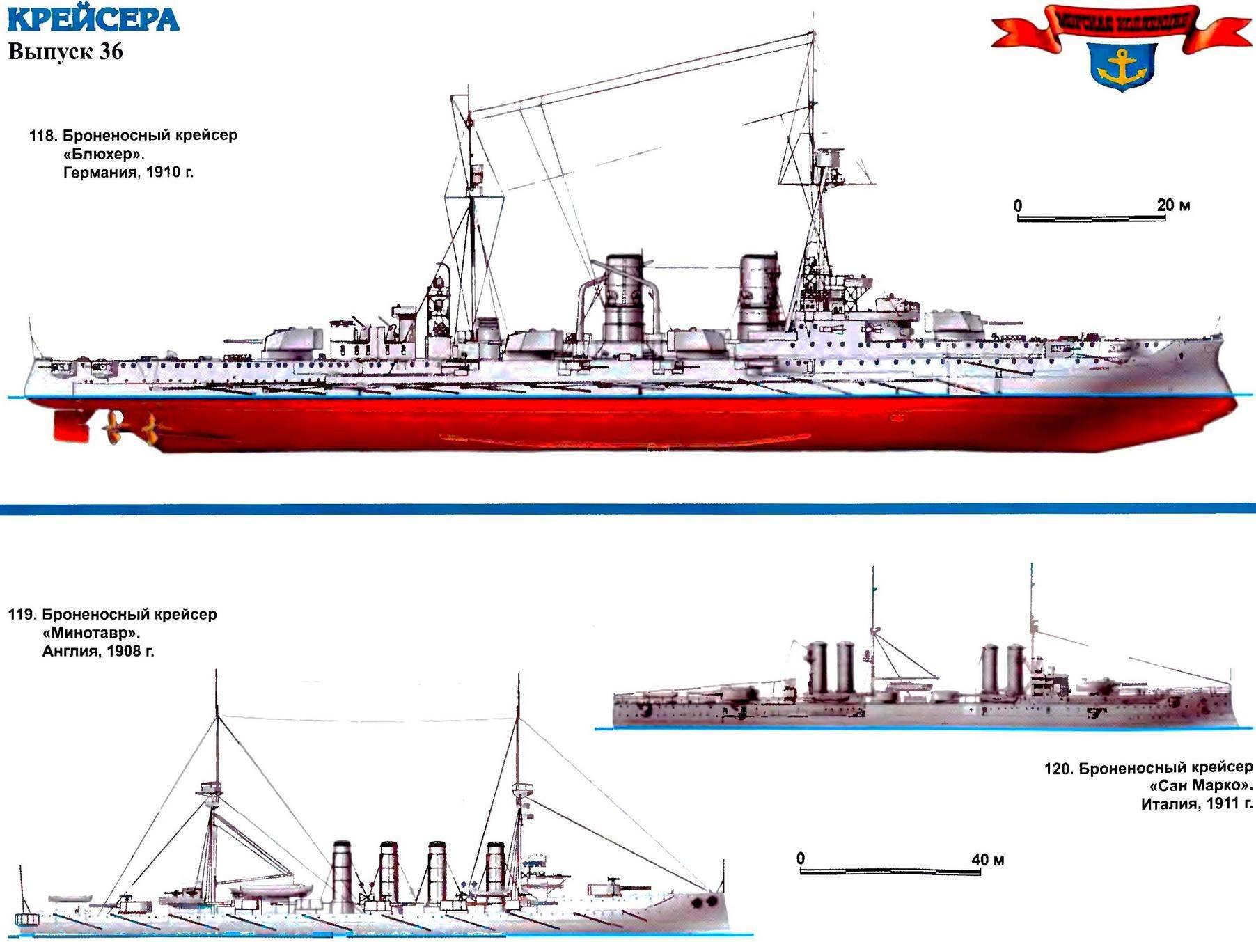 118. Броненосный крейсер «Блюхер» (Германия, 1910 г.)
