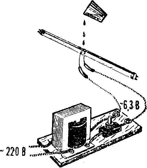 Рис. 3. Устройство для обрезания трубок.