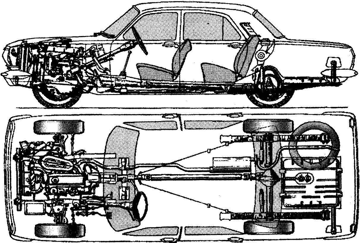 Компоновка ГАЗ-24