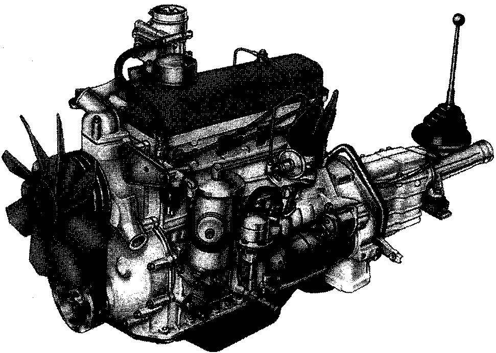 Двигатель ГАЗ-24 — модернизированный 2,4-литровый мотор от «двадцать первой» «Волги» мощностью 95 л.с. (для такси — 85 л.с.)