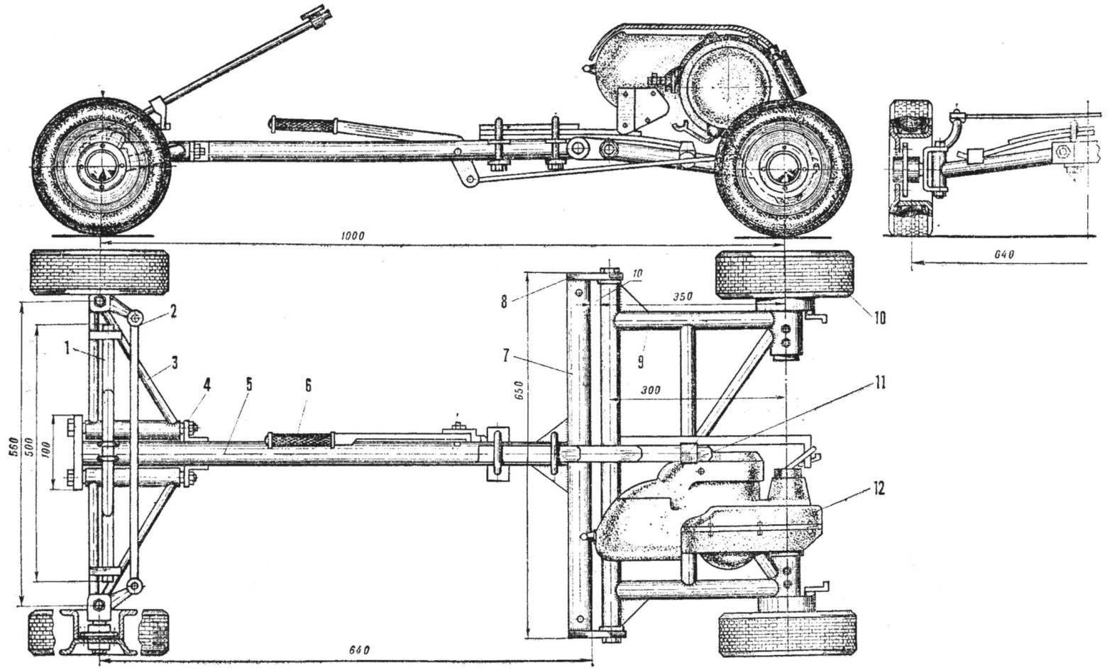 Рис. 2. Шасси микроавтомобиля