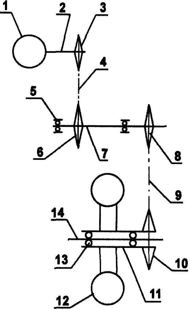 Трансмиссия — двухступенчатая цепная передача с промежуточным валом: