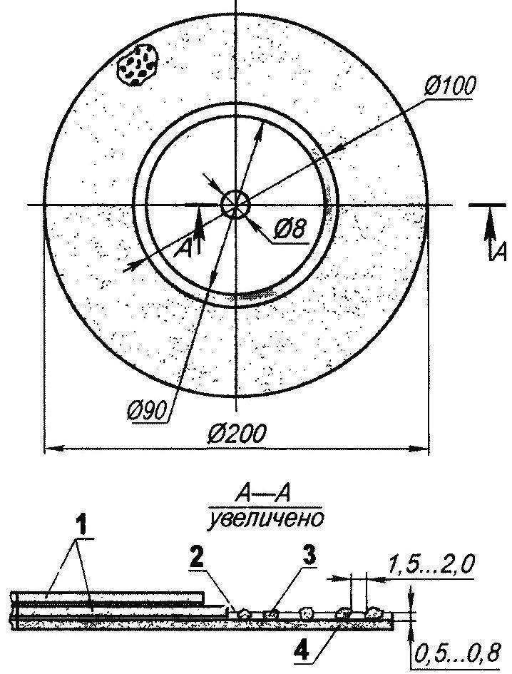 Комбинированный абразивный диск