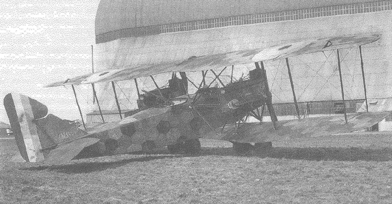 Бомбардировщик AEG G.IV, захваченный союзниками