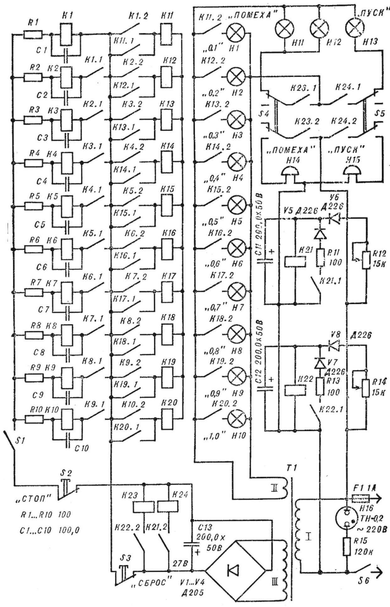 Принципиальная схема прибора для определения скорости реакции.