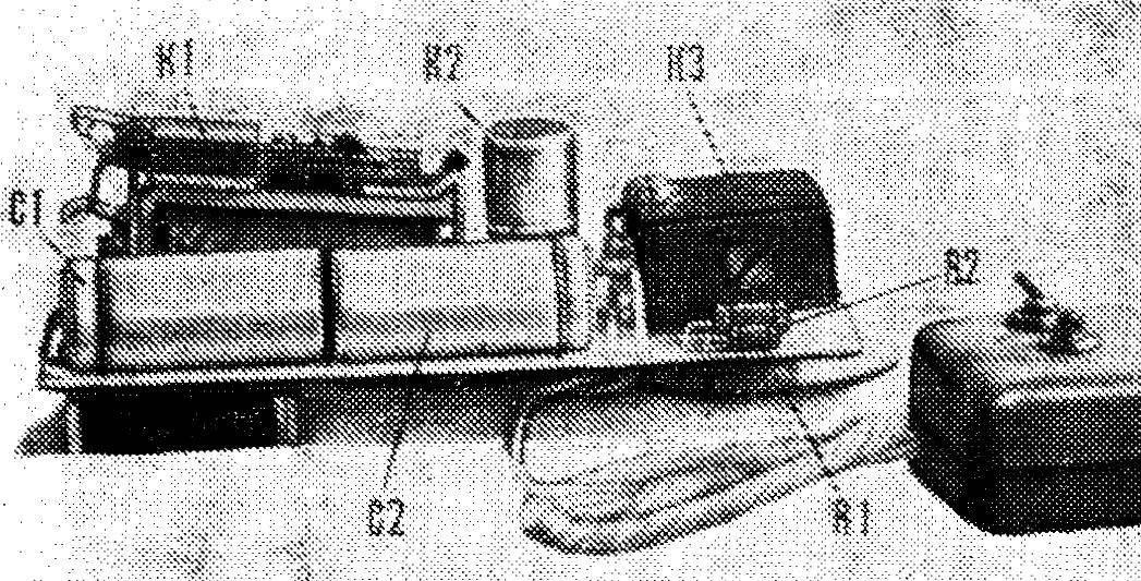 Рис. 2. Расположение элементов «сторожа» на плате.